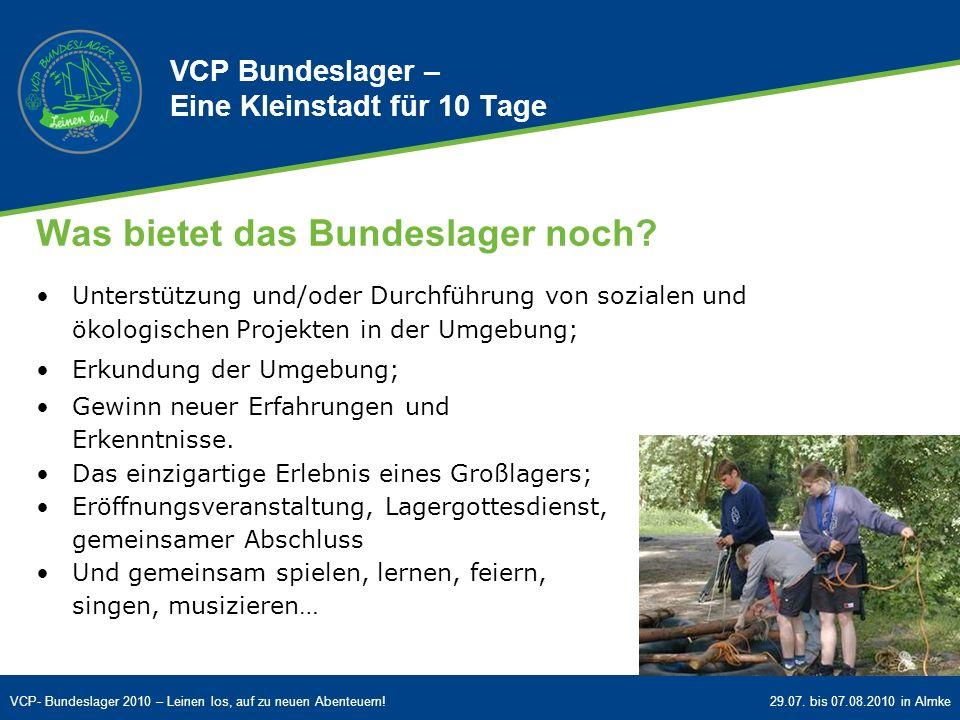 VCP Bundeslager – Eine Kleinstadt für 10 Tage