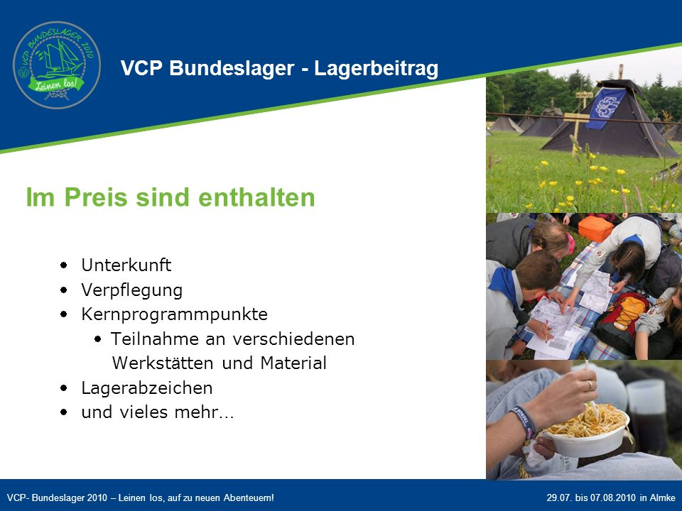 VCP Bundeslager - Lagerbeitrag