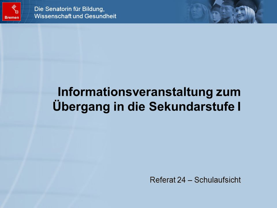 Informationsveranstaltung zum Übergang in die Sekundarstufe I