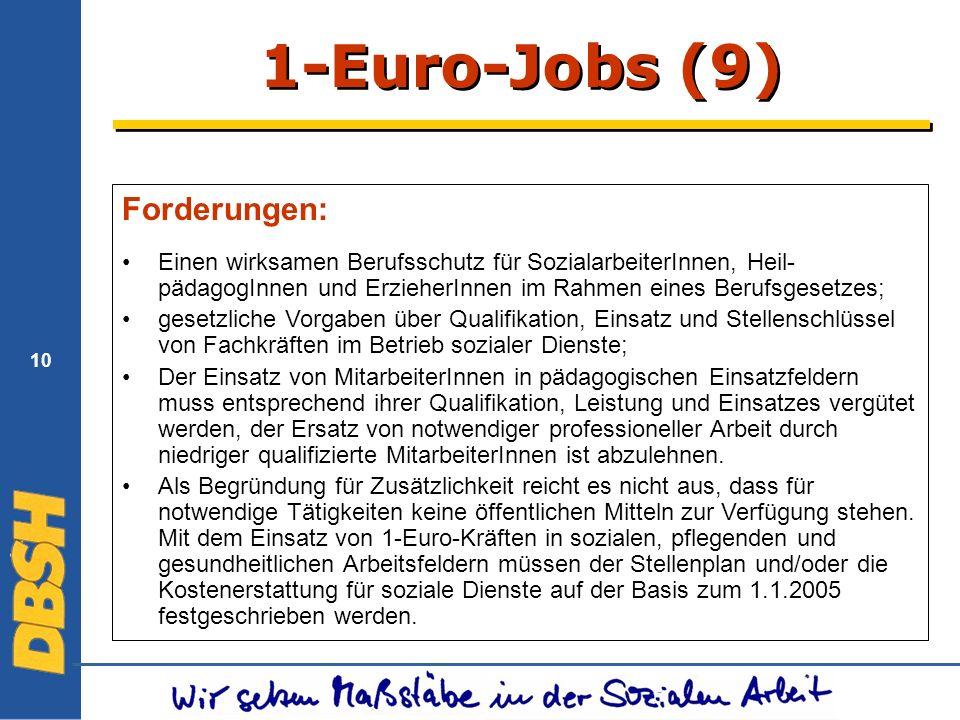 1-Euro-Jobs (9) Forderungen: