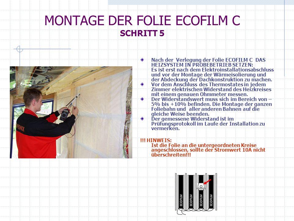MONTAGE DER FOLIE ECOFILM C SCHRITT 5
