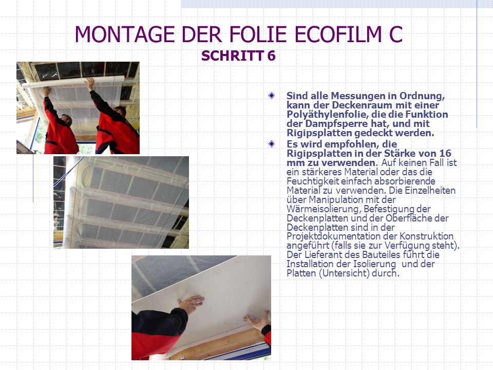 ecofilm c montageanleitung ppt herunterladen. Black Bedroom Furniture Sets. Home Design Ideas