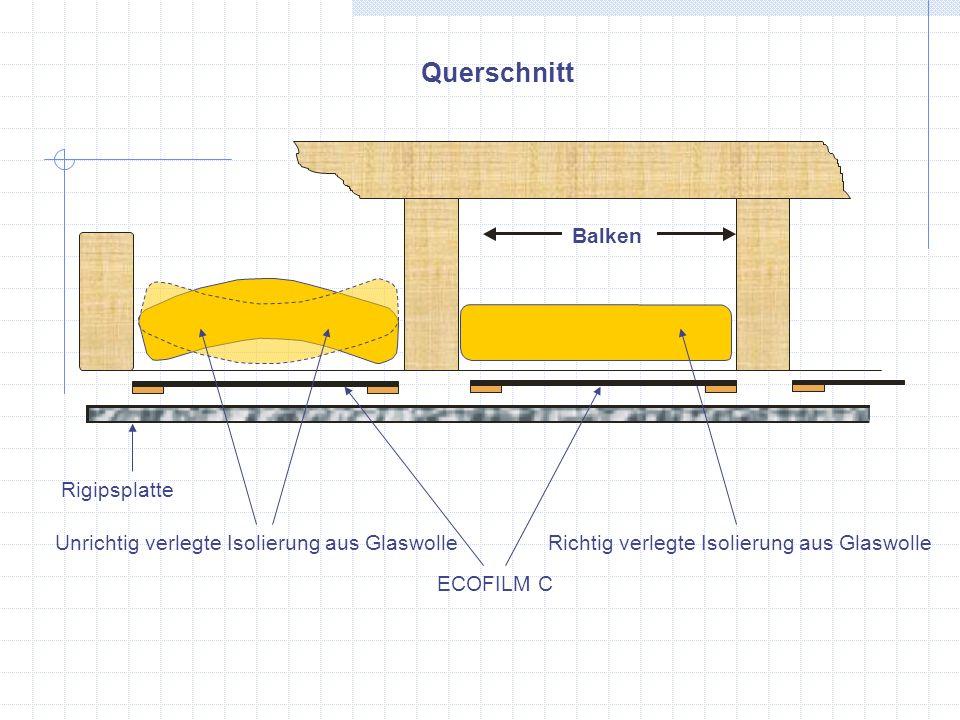 Querschnitt Balken Rigipsplatte