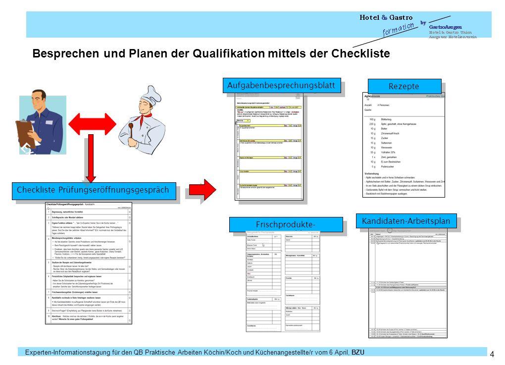 Besprechen und Planen der Qualifikation mittels der Checkliste