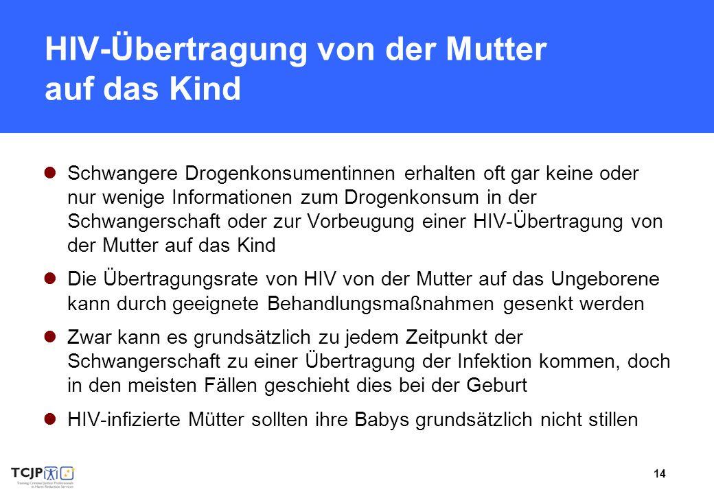 HIV-Übertragung von der Mutter auf das Kind
