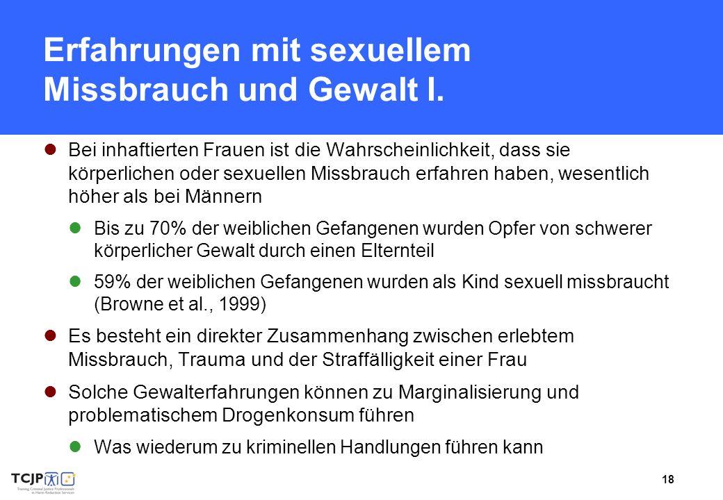 Erfahrungen mit sexuellem Missbrauch und Gewalt I.