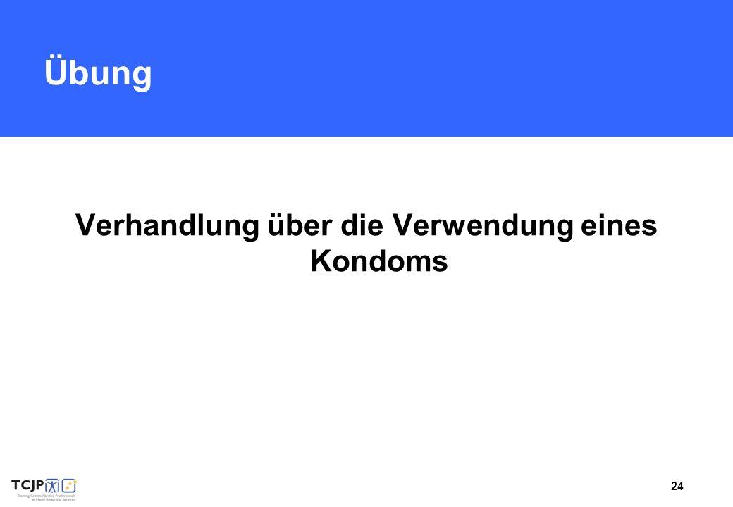 Verhandlung über die Verwendung eines Kondoms