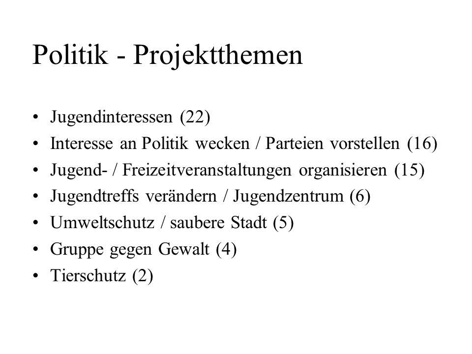 Politik - Projektthemen