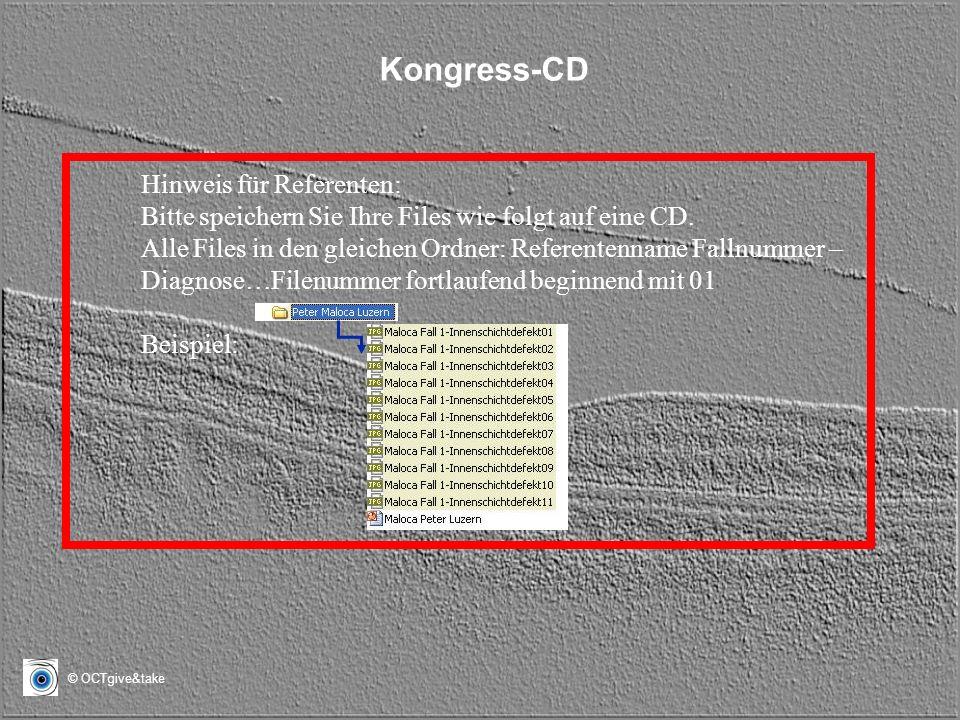 Kongress-CD Hinweis für Referenten: