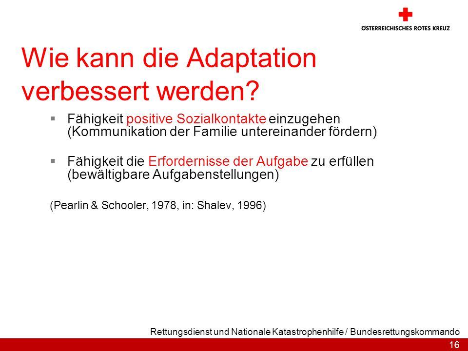 Wie kann die Adaptation verbessert werden