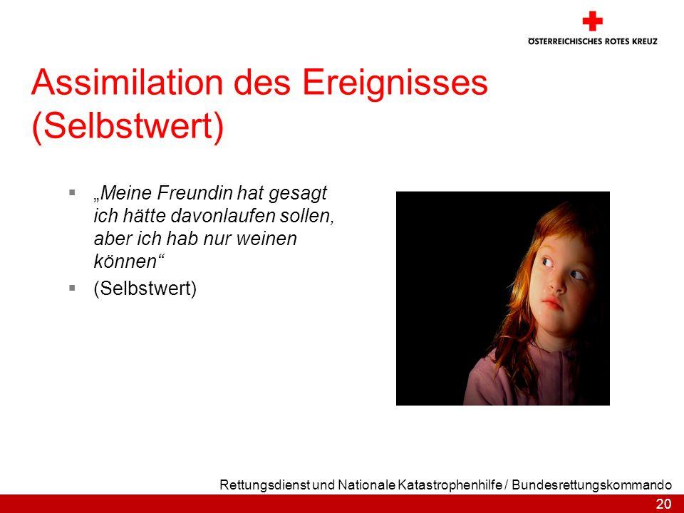 Assimilation des Ereignisses (Selbstwert)
