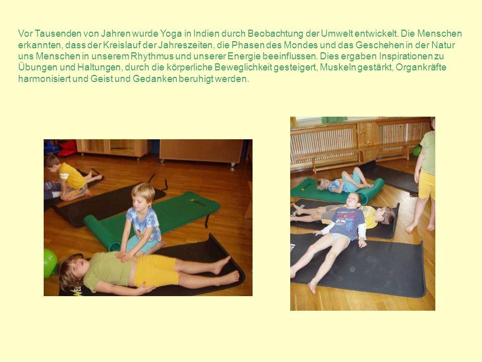 Vor Tausenden von Jahren wurde Yoga in Indien durch Beobachtung der Umwelt entwickelt. Die Menschen erkannten, dass der Kreislauf der Jahreszeiten, die Phasen des Mondes und das Geschehen in der Natur
