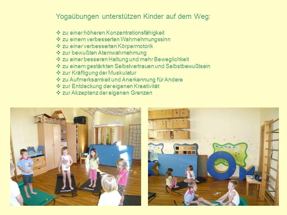 Yogaübungen unterstützen Kinder auf dem Weg: