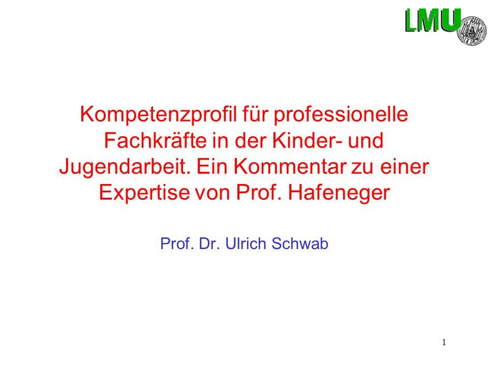 Kompetenzprofil für professionelle Fachkräfte in der Kinder- und Jugendarbeit. Ein Kommentar zu einer Expertise von Prof. Hafeneger