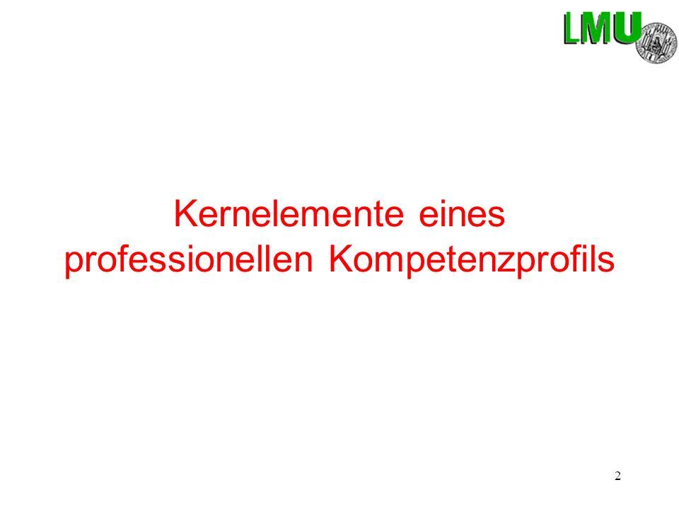 Kernelemente eines professionellen Kompetenzprofils
