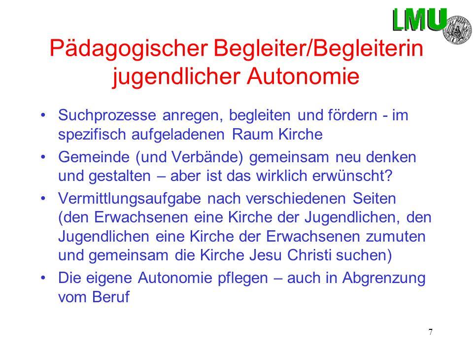 Pädagogischer Begleiter/Begleiterin jugendlicher Autonomie