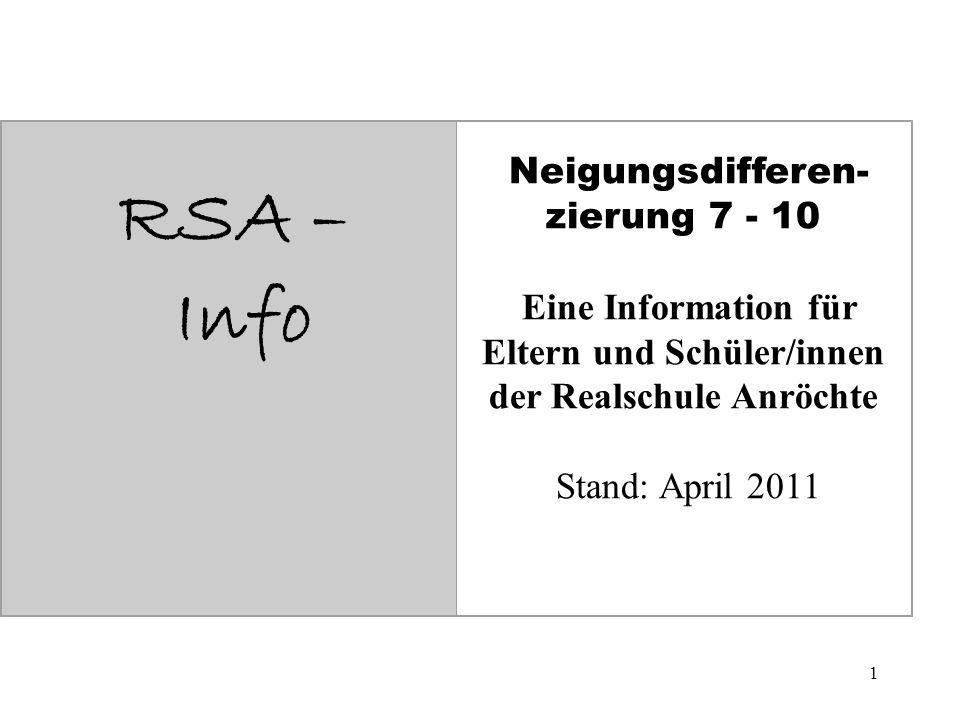 RSA – Info Neigungsdifferen-zierung 7 - 10