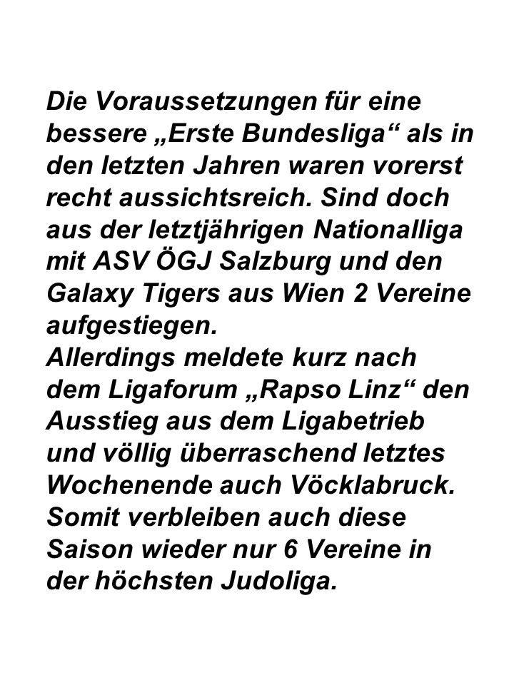 """Die Voraussetzungen für eine bessere """"Erste Bundesliga als in den letzten Jahren waren vorerst recht aussichtsreich."""