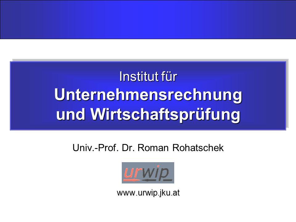 Institut für Unternehmensrechnung und Wirtschaftsprüfung