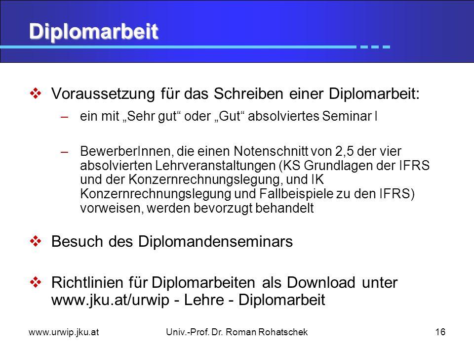 Univ.-Prof. Dr. Roman Rohatschek