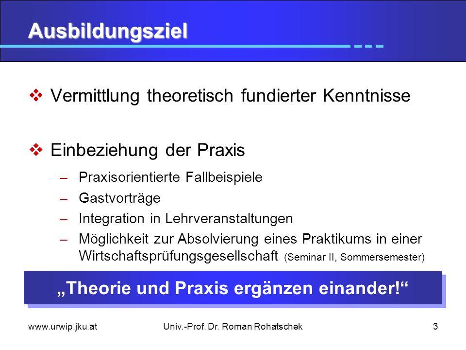 """""""Theorie und Praxis ergänzen einander!"""