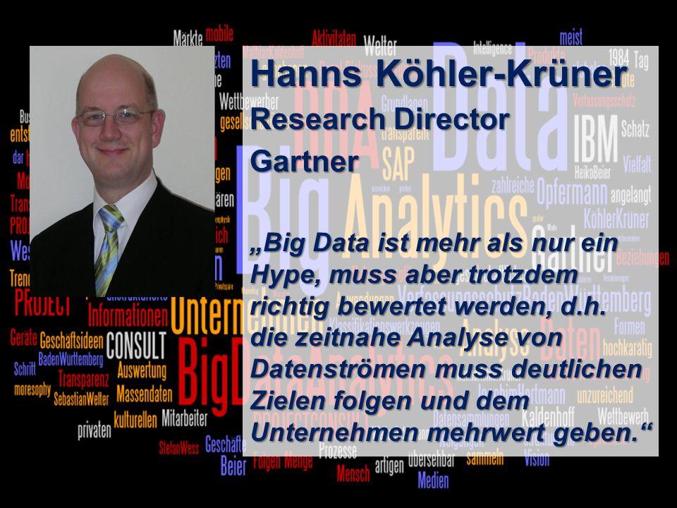 Hanns Köhler-Krüner Research Director Gartner