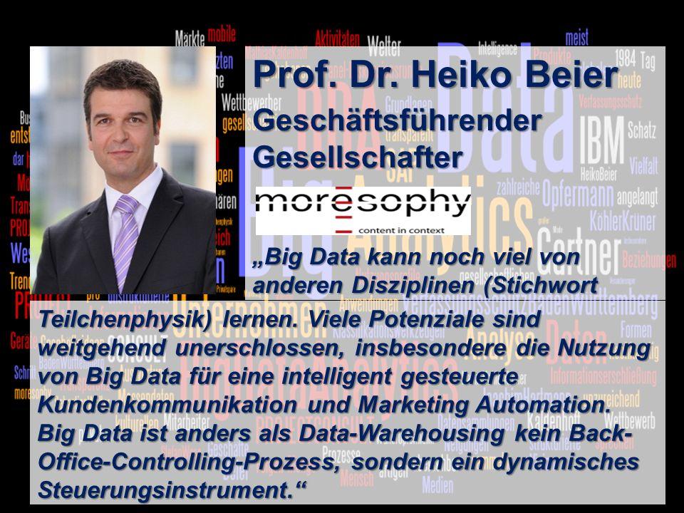 Prof. Dr. Heiko Beier Geschäftsführender Gesellschafter