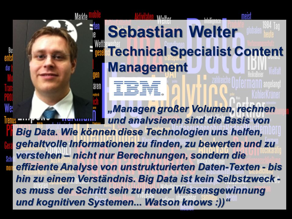 Sebastian Welter Technical Specialist Content Management