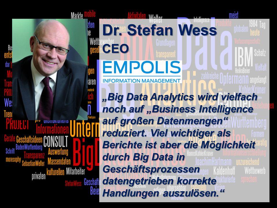 Dr. Stefan Wess CEO.