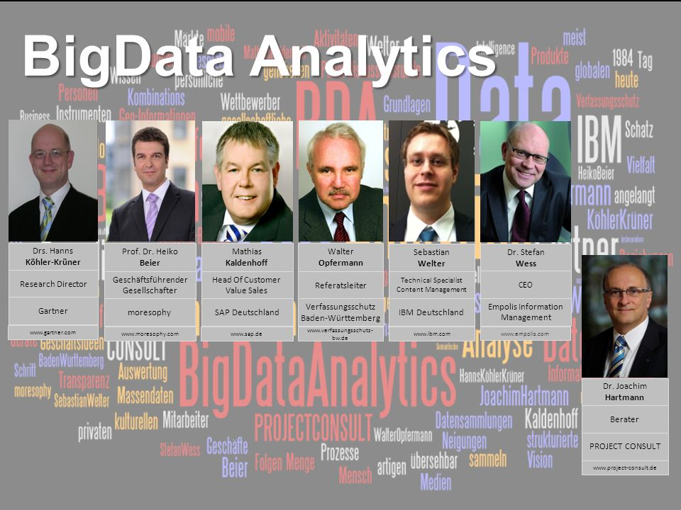 BigData Analytics Drs. Hanns Köhler-Krüner Gartner