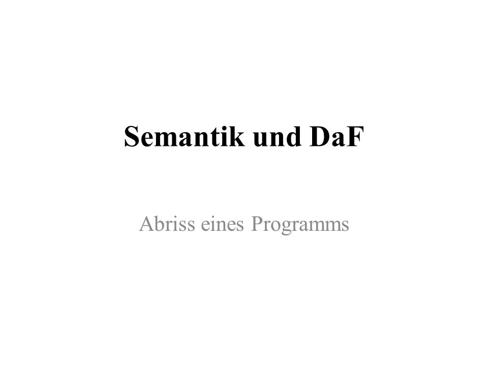 Abriss eines Programms