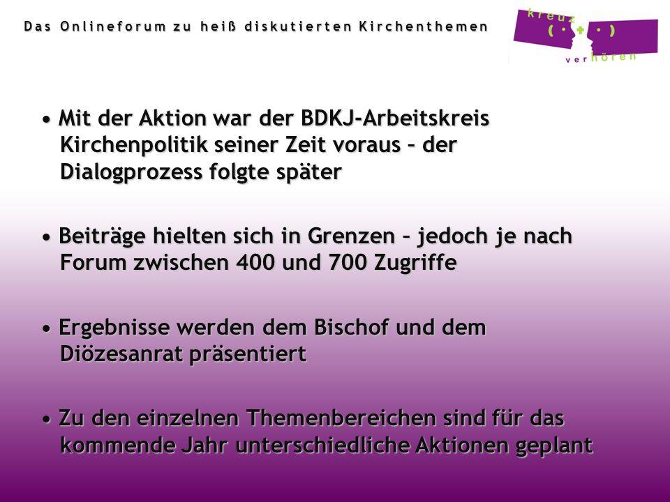 • Ergebnisse werden dem Bischof und dem Diözesanrat präsentiert