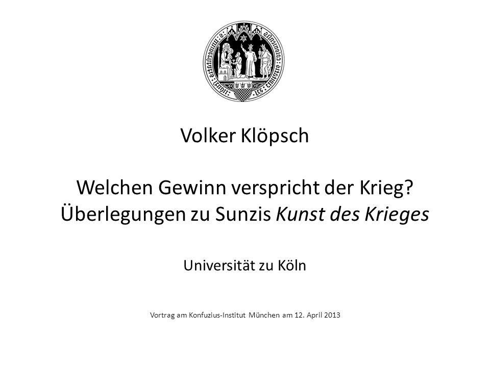 Vortrag am Konfuzius-Institut München am 12. April 2013