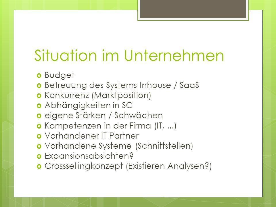 Situation im Unternehmen