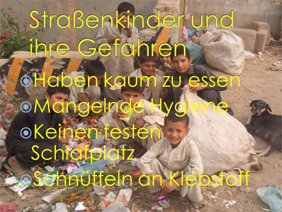 Straßenkinder und ihre Gefahren