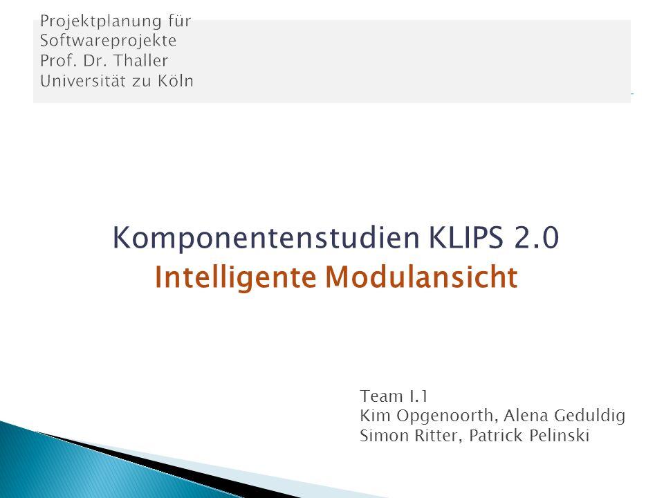 Komponentenstudien KLIPS 2.0 Intelligente Modulansicht