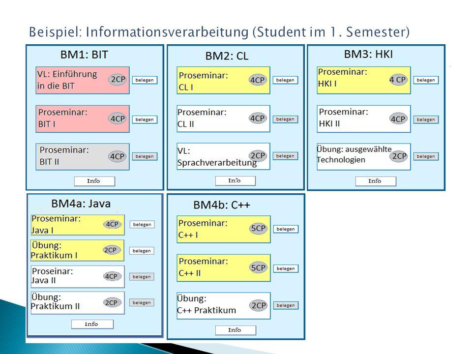 Beispiel: Informationsverarbeitung (Student im 1. Semester)