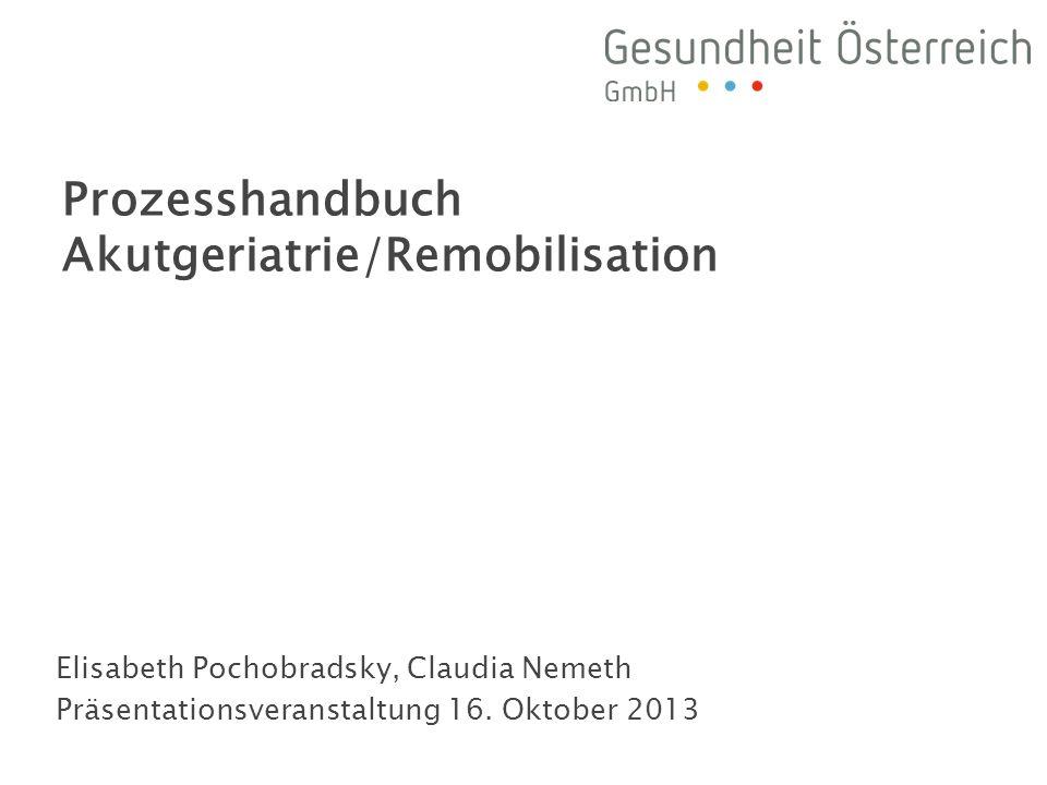 Prozesshandbuch Akutgeriatrie/Remobilisation
