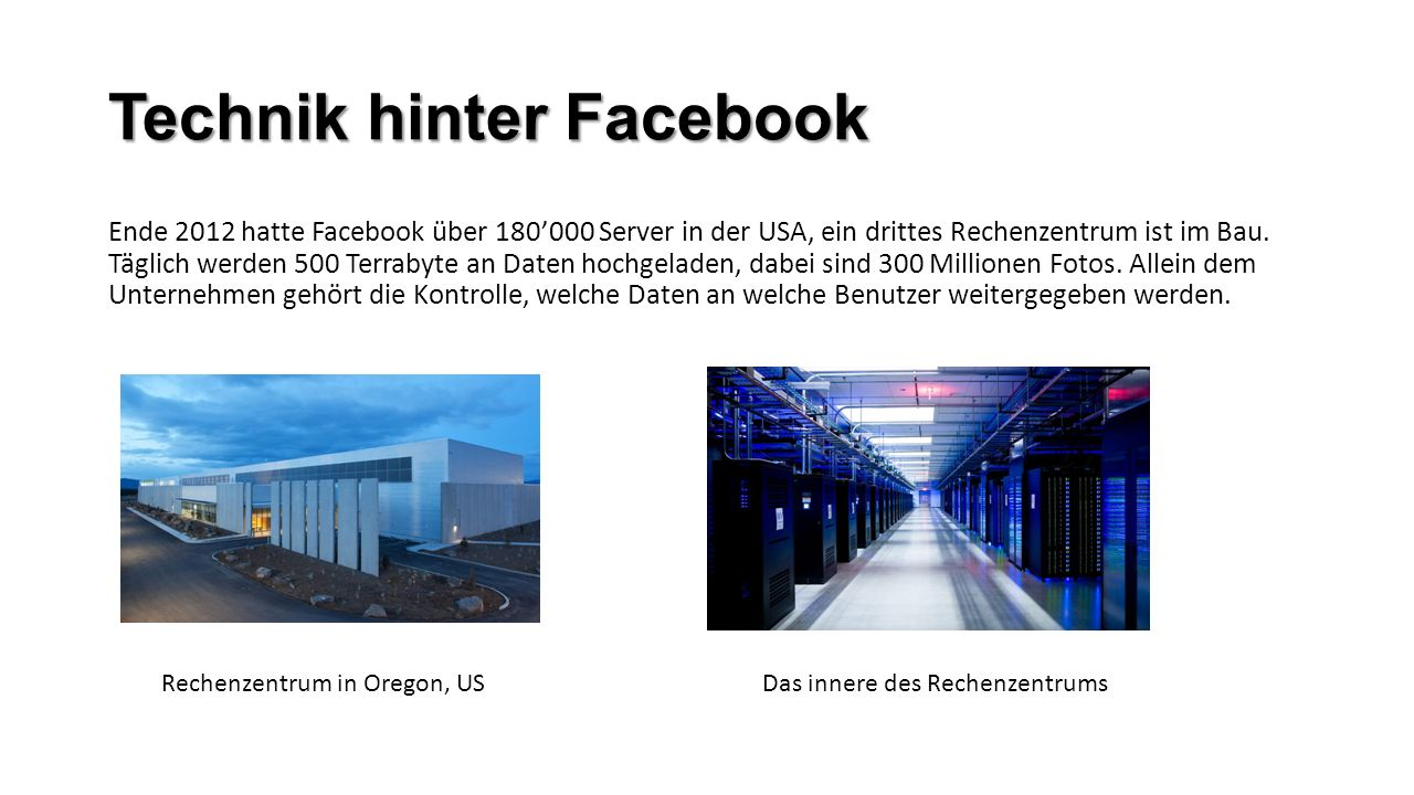 Technik hinter Facebook