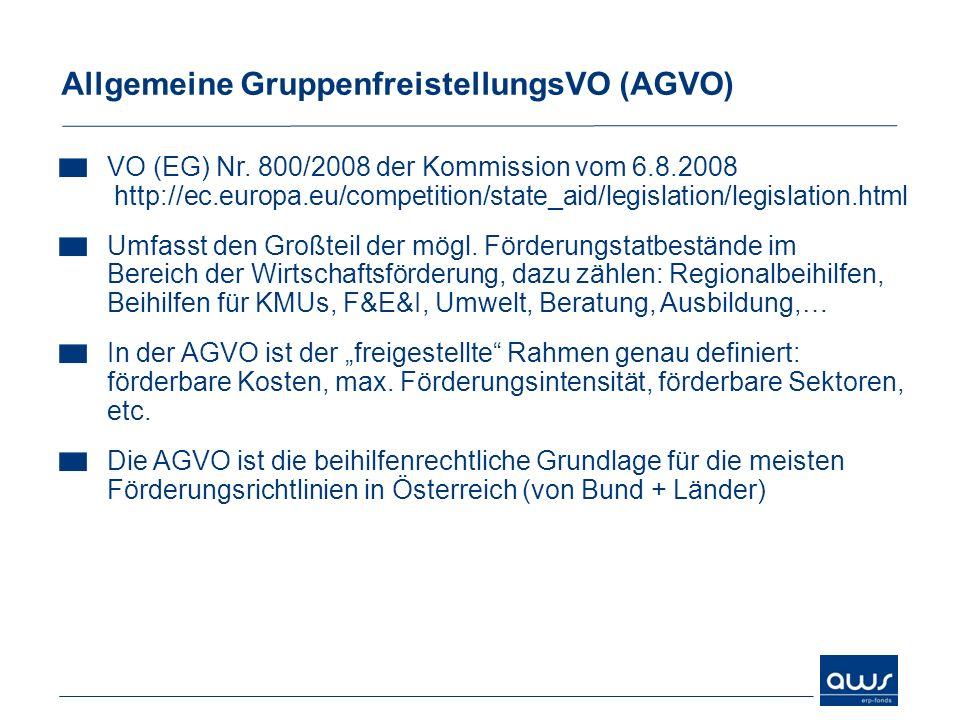 Allgemeine GruppenfreistellungsVO (AGVO)