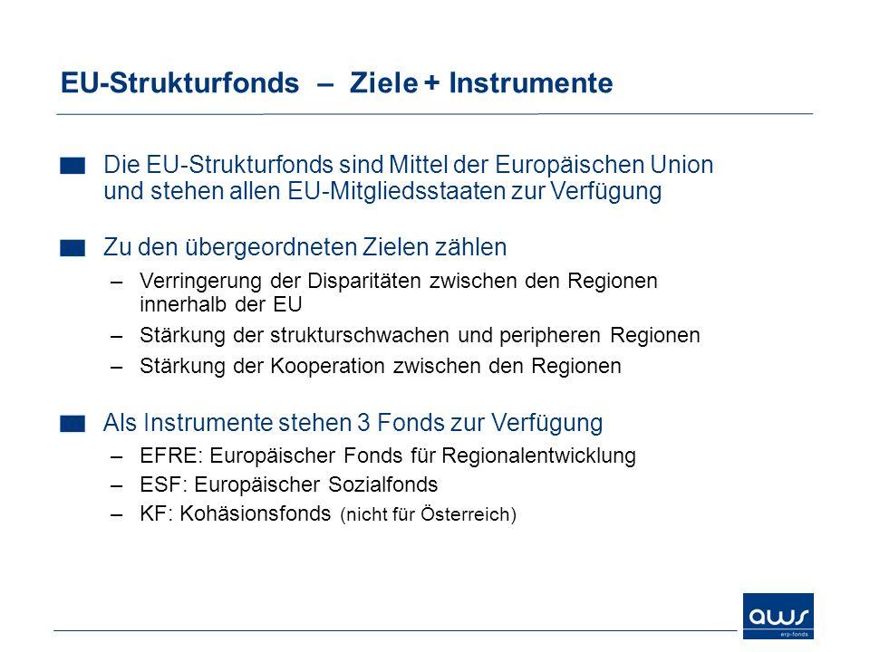 EU-Strukturfonds – Ziele + Instrumente