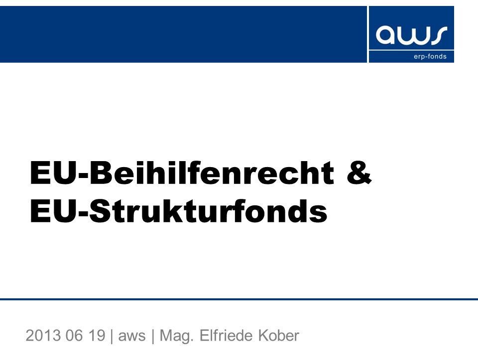 EU-Beihilfenrecht & EU-Strukturfonds
