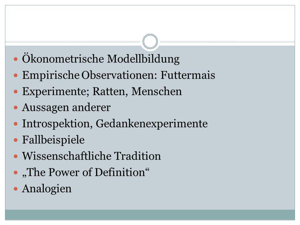 Ökonometrische Modellbildung