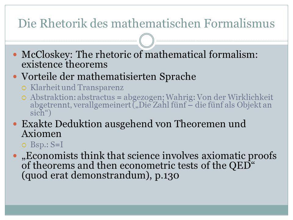 Die Rhetorik des mathematischen Formalismus