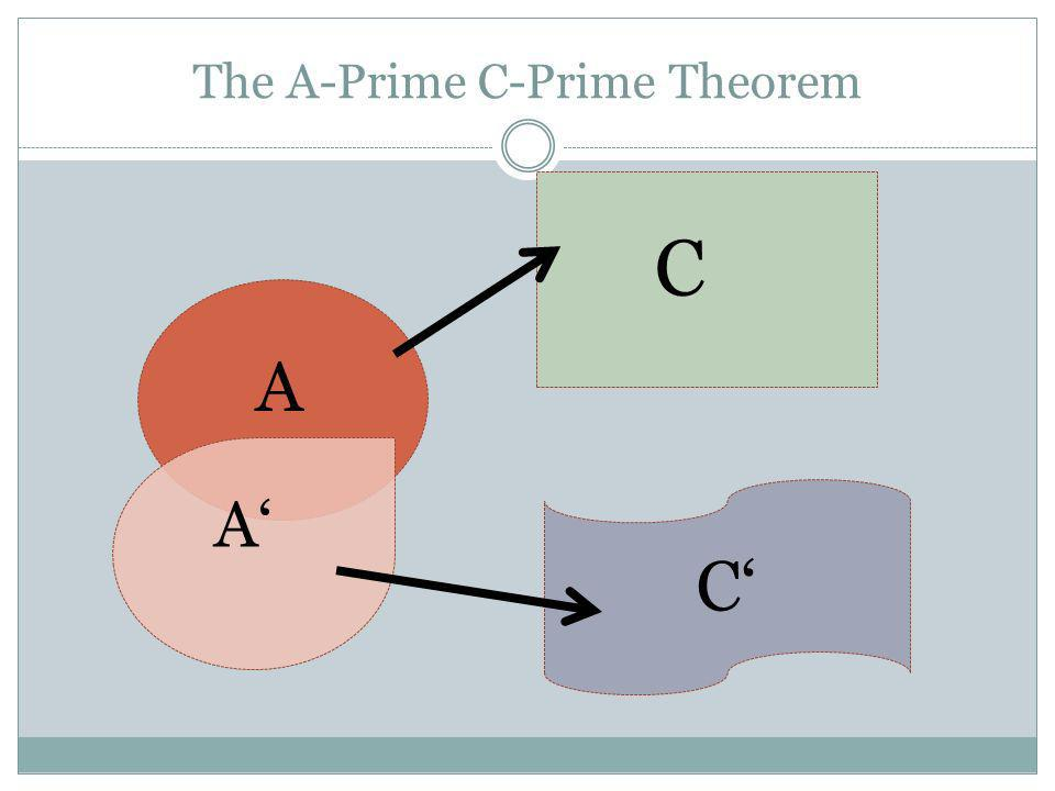 The A-Prime C-Prime Theorem