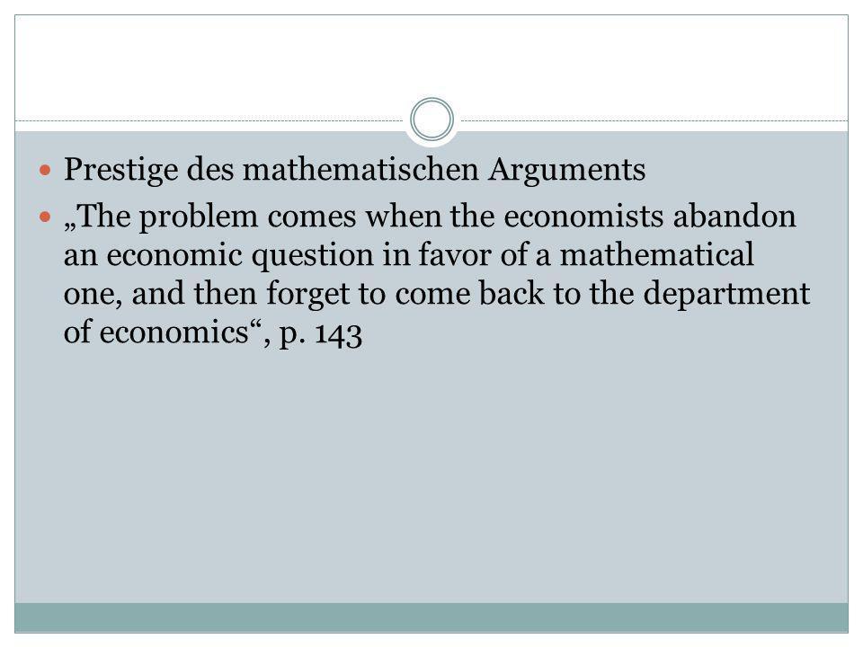 Prestige des mathematischen Arguments