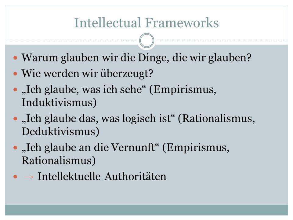 Intellectual Frameworks