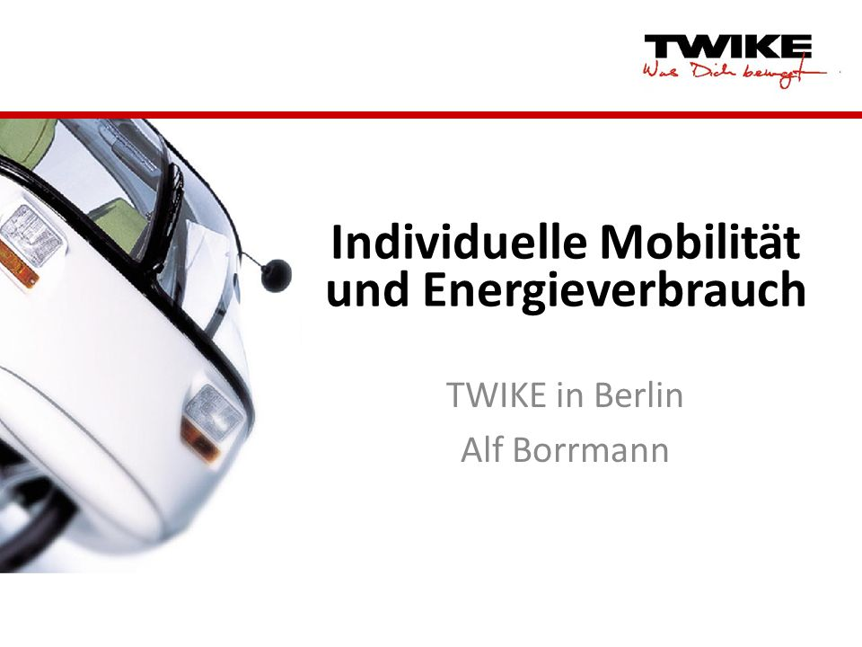 Individuelle Mobilität und Energieverbrauch