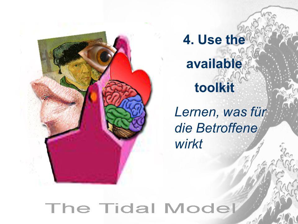 4. Use the available toolkit Lernen, was für die Betroffene wirkt