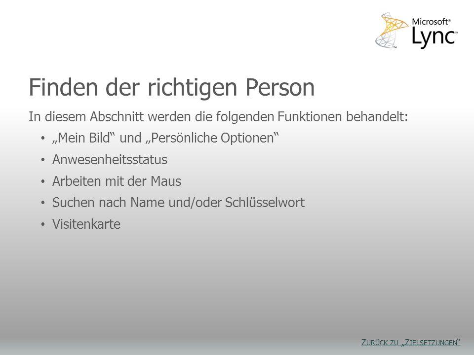 Finden der richtigen Person